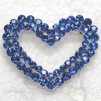 Other african american romance - Sapphire Crystal Rhinestone lovely Heart shaped Romance Bridal Wedding Pin Brooch jewelry gift Valentine s day C139 B