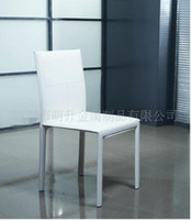 Wholesale Dining chair metal frame PVC PU base fabric factory custom European style reliable quality