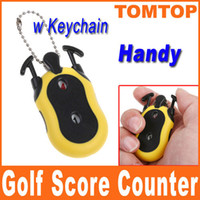 Wholesale Mini Handheld Handy Tally Golf Score Number Counter Keeper Keychain Stroke Shot Putt Counting H8352