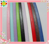 Wholesale 50pcs mm wide meter length Strands Copy Leather Belt can through mm slide letters