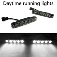 Wholesale White W LED Daytime Running Light High Power Fog Drive Lamp Transparent Shade