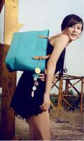 Wholesale Newest Women s fluorescent colors bag PU leather sport bags shopping handbag Purse Satchel