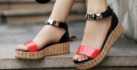 Wholesale 2012 summer sandals platform shoes slope with flat Roman shoes shoes