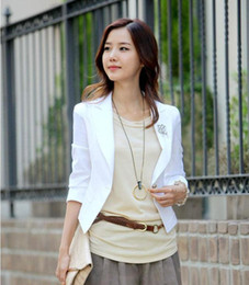 Wholesale Fashion Coats Women Outwear One Button OL Style Long Sleeve Office Ladies Coat Small Suit