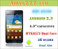 Wholesale MTK6573 HDC A9100 S2 Android Capacitive Cell Phone G WCDMA Dual Sim Smart Phone Free Gifts