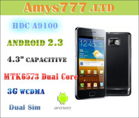 Wholesale MTK6573 quot HDC A9100 S2 Android Capacitive Cell Phone G WCDMA GPS Dual Sim Smart Phone