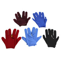 Wholesale 3 Fingers Gloves For Billiards Pool Snooker Free Size New Sets J7415