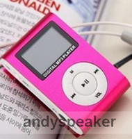 Wholesale freeshipping Clip MP3 Player with OLED Screen Metal Body support GB GB GB GB TF Card