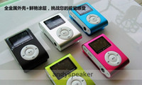 Wholesale DHL free colors Clip MP3 Player with Screen Metal Body support GB GB GB GB TF Card