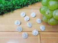 Wholesale 24mm Bling Button Alloy Metal Buttons Round Rhinestone Girls hair accessories