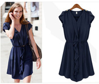 Wholesale Promotion Fashion first quality women s dress summer clothes chiffon colors