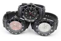 Wholesale 10pcs Black Quartz Watch Silicone Jelly Watches mm Men Women Watch No Logo Without Calendar Watch