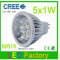 Wholesale By DHL Low Price Low heat CRI R Efficiency x1W LED12V MR16 LED Blub Light