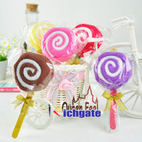 Wholesale Lollipop Candy Towel Cake cotton Wedding Party Festival Favors Promotion Valentine s Lover Gift