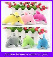 Multicolor wedding stuff - New Dolphin Pendant Stuffed Animals Plush Kid Toys Wedding jewelry Birthday gifts Doll for Children