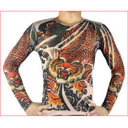 Wholesale Tiger pattern tattoo long sleeve T shirt tattoo clothing tattoo essential