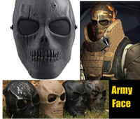 Wholesale Skull Skeleton Army Airsoft Paintball Gun Full Face Game Protect Safe Mask