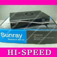 Wholesale 1pcs Sunray se SR4 T2 with DVB S DVB C DVB T2 and wifi build in