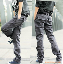 Wholesale 2012 New Korean Men pants Casual pants Pencil pants Double belt oblique mouth lapel straightTrousers