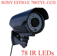 Wholesale 78 IR TVL Sony Effio E CCD mm Zoom Lens Weatherproof CCTV Camera With OSD