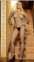 Black Other nylon body stockings Women's Sexy Body Stockings Fishnet Crotchless Stretchy Nude No need strip Liberate Body S806 1p