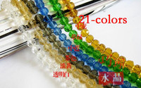 Wholesale 21 colors Sparkling Austrian crystals surface MM MM Charms Loose Beads Supplies