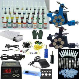 Wholesale Complete Tattoo Kits Top tattoo Machine Guns Power Needles color Inks