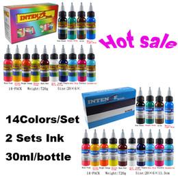 Wholesale Hot Sale Sets Tattoo Ink Colors Set oz ml Bottle Tattoo Pigment Kit