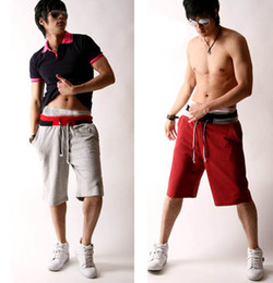 Wholesale 2012 Fashion Men s Shorts Taper Type Cotton Sports Shorts Popular Casual Shorts Middle Pants YNK1