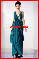 indian dress - New Classy Elegant Indian Dresses Sarees vening Dresses V Neck Applique Chiffon Ankle Length Hot