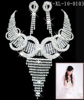 Alloy adorn settings wedding - bride luxury Necklaces earrings set Rhinestone Party necklace adorn article Wedding Accessories S XL103