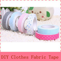 Wholesale DIY Masking Clothes Fabric Tape Grid Stickers Cute Stationery with Retail Packing
