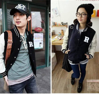 Wholesale Women Varsity jacket Fashion Autumn Baseball Jacket Unisex Colorblock R LetteOutwear Sportwear
