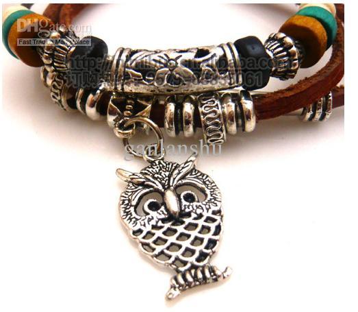 2017 Korean Style Jewelry Fashion Leather Wooden Bead Multi Beaded Bracelet From Ganlanshu 36