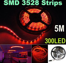 5M 60led m 3528 SMD Flexible led Strip Light 300LED non Waterproof led strip led Light Car Home Garden - Red