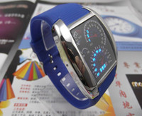 Wholesale Fashion Design Blue LED Light Dot Matrix Mens WATCH dive