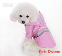 Wholesale 2012 New hot Pet Dog Rain Coat Hoodie Hooded Raincoat Clothes Apparel