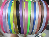 Wholesale Mixed color color Metal Headband with satin mm Wide