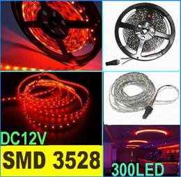 50m SMD 3528 Flexible LED Strip Light RED 60led m non Waterproof Red LED light strip 5M 300LED Garden Home Wedding