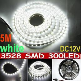 White LED Strip Light 60led m 16FT non Waterproof SMD 3528 Flexible led strips 5M 300LED Home Garden