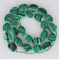 Wholesale HOT Real X18mm Green Malachite Gemstone Oval Loose Bead inch