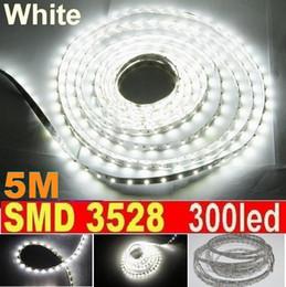 5M 300LED LED Strip Light White non Waterproof 60led m SMD 3528 Flexible led strip Garden Christmas