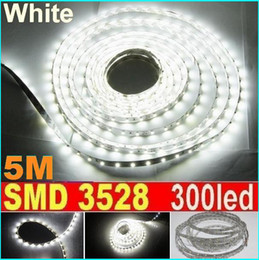 SMD 3528 pure White LED Strip Light 60led m non Waterproof White strip 5M 300LED Garden Home Wedding