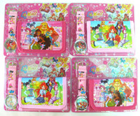 Wholesale New pc cartoon Pretty Winx Club Watches and Wallet Sets with gift Box Party Gift