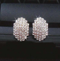 Wholesale factroy supply new Super flash diamond Beetle earrings