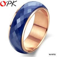 Wholesale Fashion jewelry Hot Selling rings ceramic ring Health Care Handmade Jewelry Blue Color