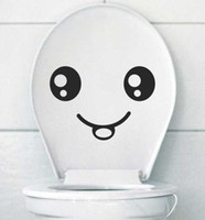 Wholesale 2012 new wall sticker paper doll cupboard smiling laughing eyes affixed toilet paste DIY Stickers