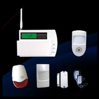 Wholesale GSM Wireless Alarm System with LCD display supporting Motion Video Camera Russian language