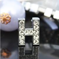 Wholesale mm H Slide Letters Wear Letters Fit Bracelet Pet Collar DIY Charms