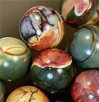 Wholesale NATURAL MM MULTICOLOR PICASSO JASPER GEMSTONE ROUND BALL LOOSE BEAD STRAND quot